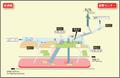 Kokusai Center station map Nagoya subway's Sakura-dori line 2014.png