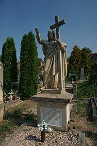 Kopidlno - hřbitov, náhrobek Františka Hilmara 1.jpg