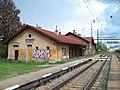 Králův Dvůr, nádraží, budova, z kolejiště.jpg