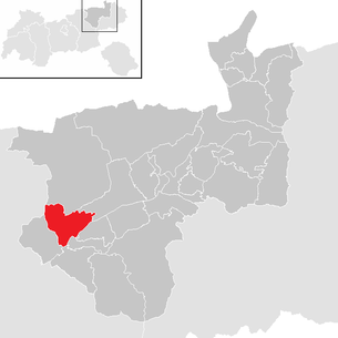 Location of the municipality of Kramsach in the Kufstein district (clickable map)