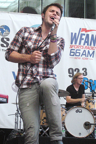 Kris Allen - Kris Allen at Yankee Stadium, New York City, on June 26, 2010