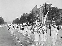 Ku Klux Klan members march down Pennsylvania Avenue in Washington, D.C. in 1928.jpg