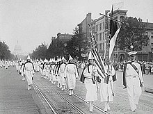 Ku Klux Klan members march down Pennsylvania Avenue in Washington, D.C. in 1928.jpg