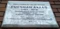 Kucsman Árpád emléktáblája, Budapest, XI., Stoczek József utca 17b..png
