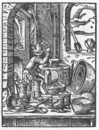 Χαλκουργός. Από χαρακτικό σε γερμανικό βιβλίο του 1568.