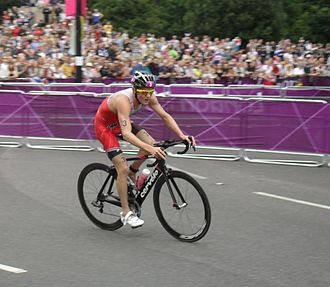 Canada at the 2012 Summer Olympics - Kyle Jones during the triathlon.