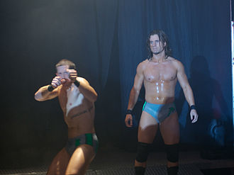 Adam Cole - Future Shock: Kyle O'Reilly (left) and Cole (right) at a Ring of Honor show in August 2011