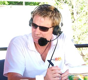 Kym Dillon - Kym Dillon commentating at the Tour Down Under
