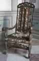 Länstol med korsstygnsbroderi, 1700 cirka - Skoklosters slott - 103762.tif