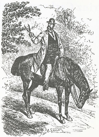 Park Glienicke - Prince Charles tending trees in Park Glienicke, (H. Lüdeke, around 1880)