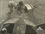 LACs Hardcastle and Howarth check 43 Squadron RAAF Catalina forward guns Darwin June 1944 AWM NWA0880.jpg