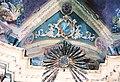 La Cappelletta, 1983, prima dei restauri, la raggiera sopra l'altare maggiore.jpg