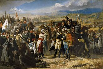 Peninsular War - The Spanish Army's triumph at Bailén was the French Empire's first land defeat. Painting by José Casado del Alisal