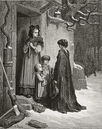 The Ant and the Grasshopper - Gustave Doré illustration of La Fontaine's The Ant and the Grasshopper
