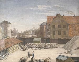 Rosenørns Allé - Ladegården in 1892