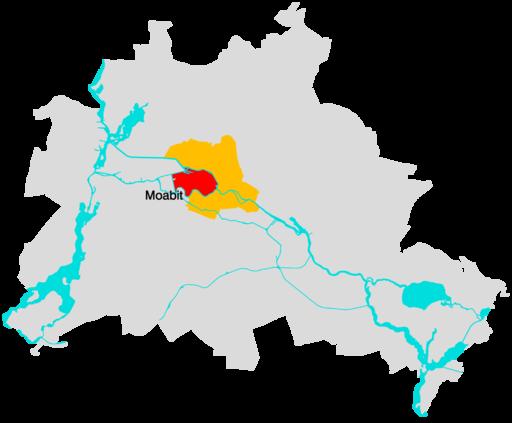 Lage Moabit