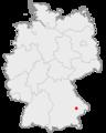 Lage der Stadt Landau an der Isar in Deutschland.png