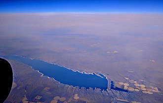 Lake McConaughy - Aerial view of Lake McConaughy from the south
