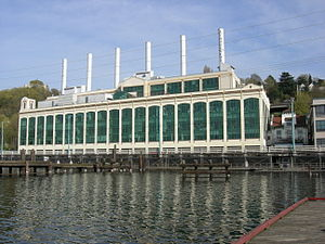 Eastlake, Seattle - The former City Light Plant No. 3, now Zymogenetics, in Eastlake along Lake Union