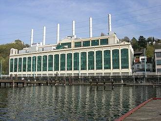 Eastlake, Seattle - The former City Light Plant No. 3, now Zymogenetics, in Eastlake along Lake Union