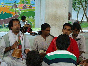 Lalon - Disciples practicing lalon song at his Akhra
