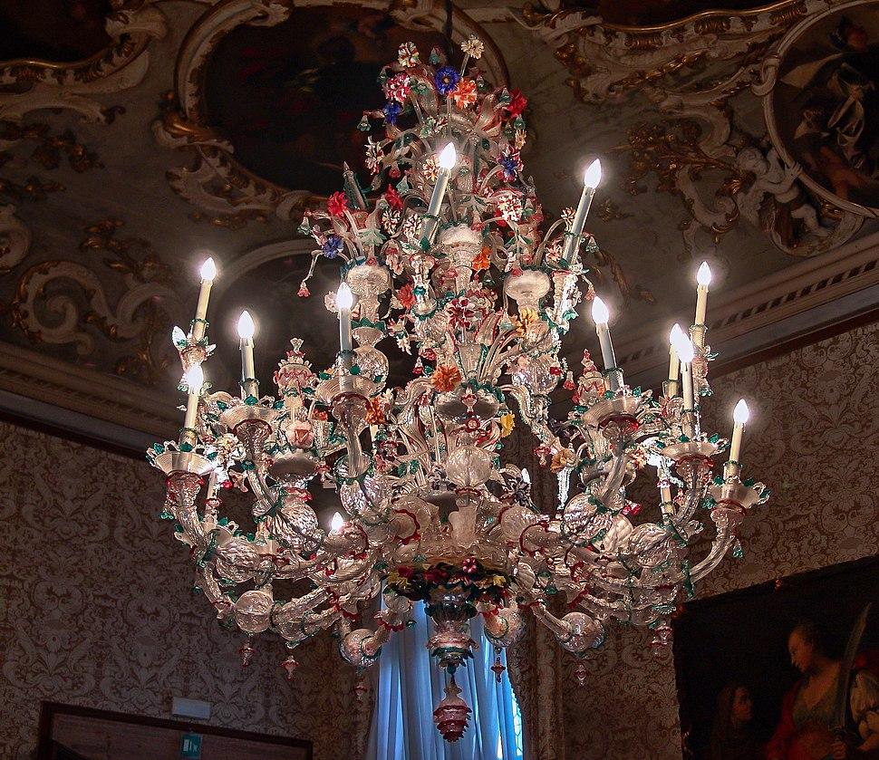 Lampadario in vetro di Murano - Ca' Rezzonico, Venice