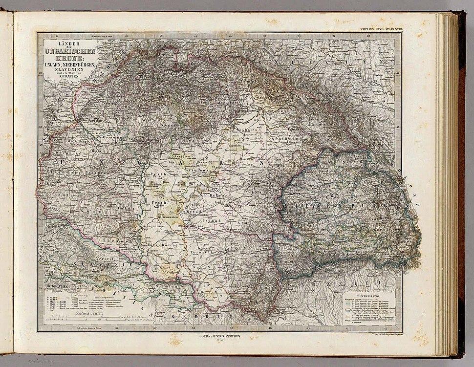 Lands of The Hungarian Crown (Hungary, Transylvania, Slavonia), 1875