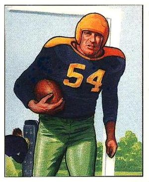 Larry Craig (American football) - Craig on a 1950 Bowman football card
