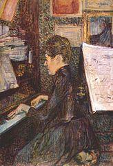 Slečna Marie Dihauová u klavíru