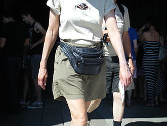 Fanny pack - Image: Leather Fanny Pack