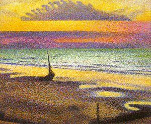 Heist-aan-Zee - Georges Lemmen, Beach at Heist, 1892