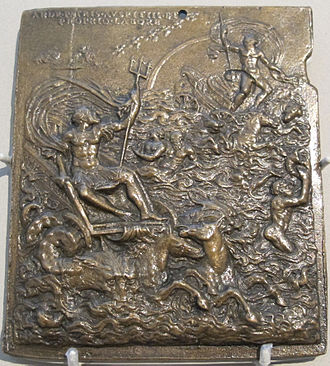 Plaquette - Allegorical Triumph of Giovanni Andrea Doria, Leone Leoni, 1541–42