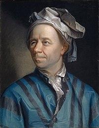Emanuel Handmann'nin çizimiyle Leonhard Euler.