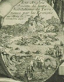 Les Anglais attaqués par les Français à Terre-Neuve en 1696.jpg