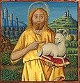 Liénard de Lachieze - Missel romain copié en 1492 Saint-Jean-Baptiste et l'Agneau de Dieu.jpg