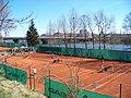 Libeň, tenisové kurty Baník Praha a most Barikádníků.jpg