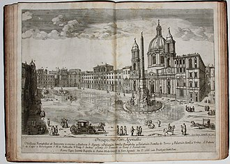 Vatican City - Lieven Cruyl, Veduti (Prospectus Basilicę Vaticanę D. Petri.), depiction of the Vatican during the Baroque ages.