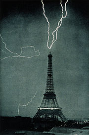 Eiffel Tower Lightning Strike Picture on Eiffel Tower   Map  The Full Wiki