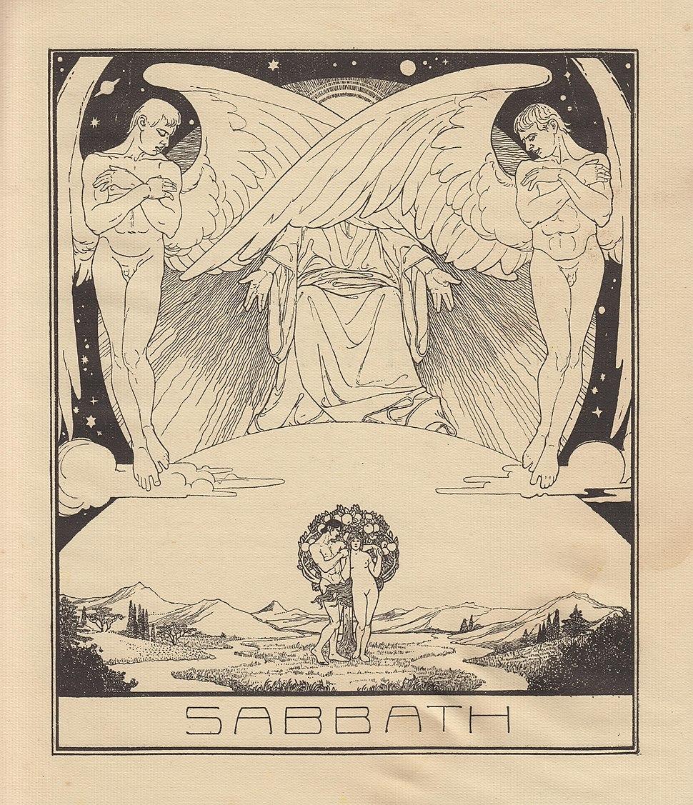 Lilien Ephraim Moses, 1923, Szabat