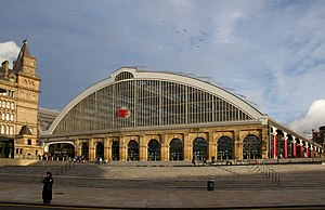 Liverpool Lime Street railway station - The frontage at Liverpool Lime Street