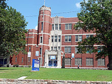 Lincoln High School, Kansas City, Missouri. Entrance.jpg