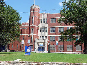Lincoln College Preparatory Academy - Image: Lincoln High School, Kansas City, Missouri. Entrance
