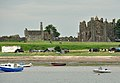 Lindisfarne Priory from castle.JPG