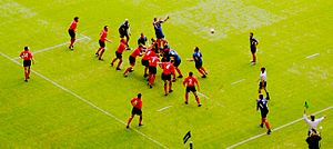 Wales playing France in 2004.