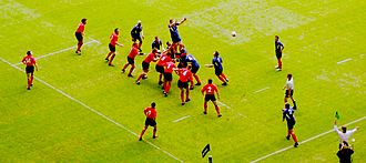 Line-out (rugby union) - Image: Lineout Wv F 2004