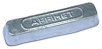 Ingot - Aluminium ingot after ejection from mold