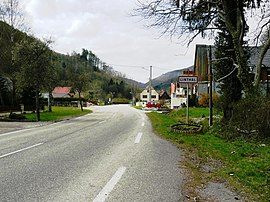 The southern entrance to the village of Linthal