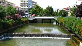 Litheos river flowing through the city of Trikala