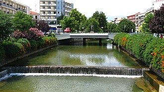Trikala - Litheos river flowing through the city of Trikala