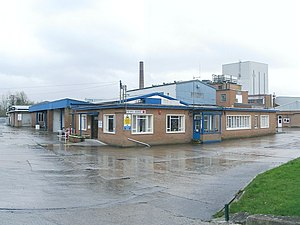 Llangadog - Former CWS/MMB creamery at Llangadog, now a pet food factory